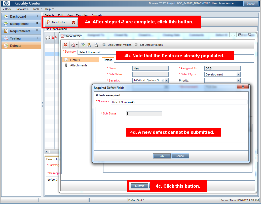 Alm Workflow Always Trigger Bug New When New Defect Is Clicked