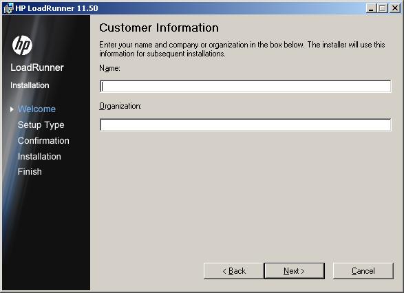 LoadRunner 11.5 Install - Step 4