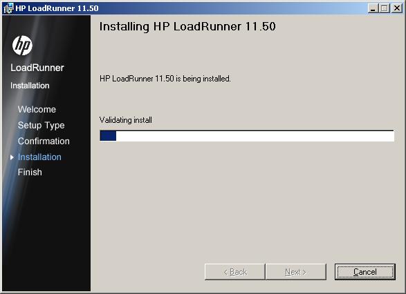 LoadRunner 11.5 Install - Step 7