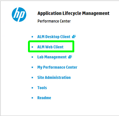 ALM Web Client for ALM and Performance Center 12 Installations